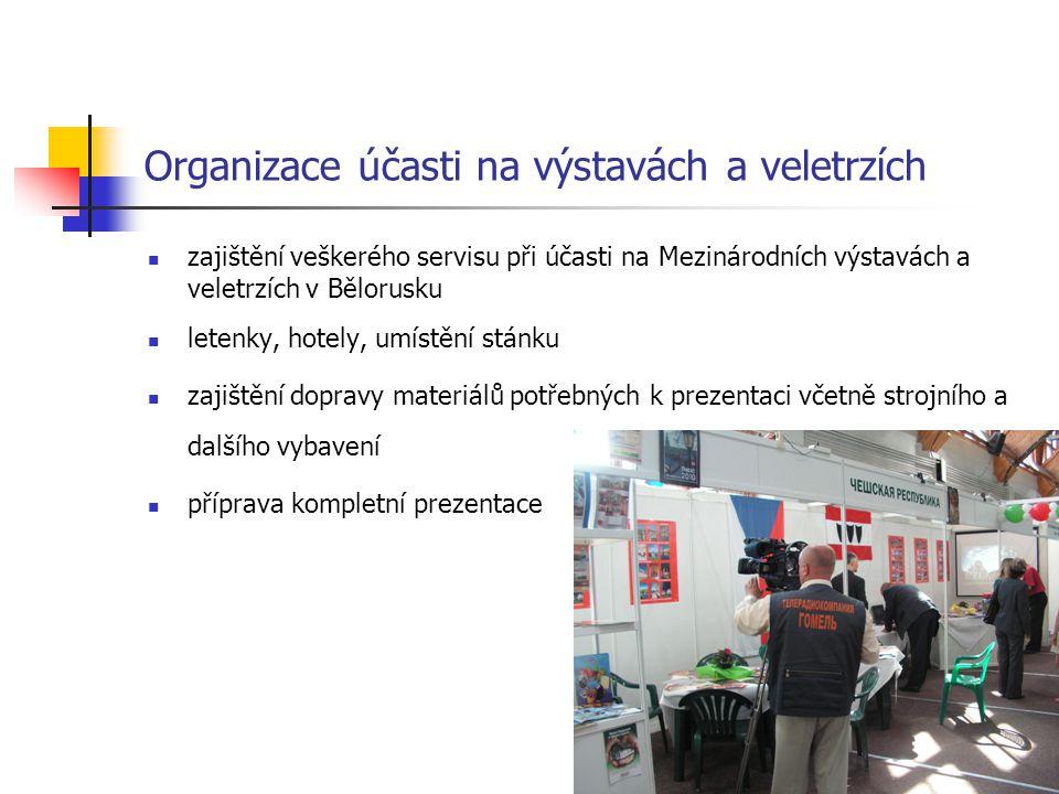 Organizace účasti na výstavách a veletrzích