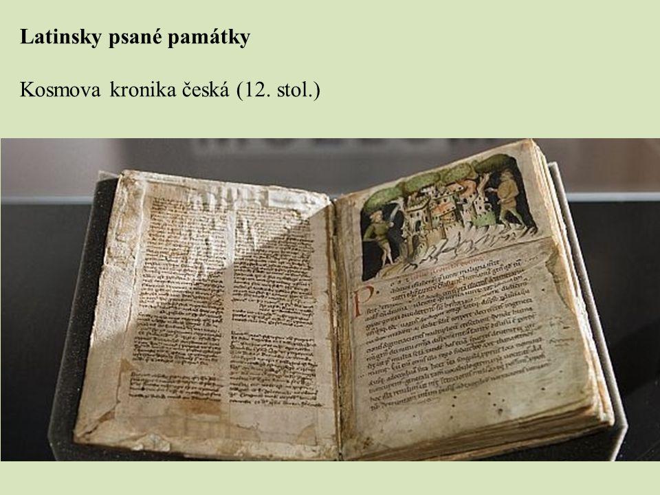 Latinsky psané památky