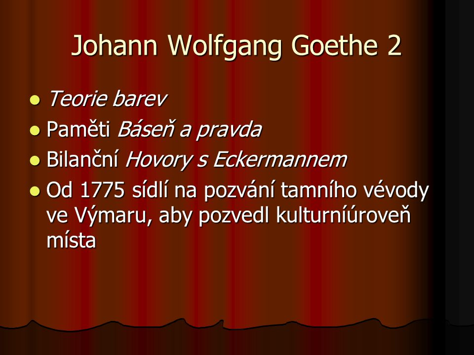Johann Wolfgang Goethe 2