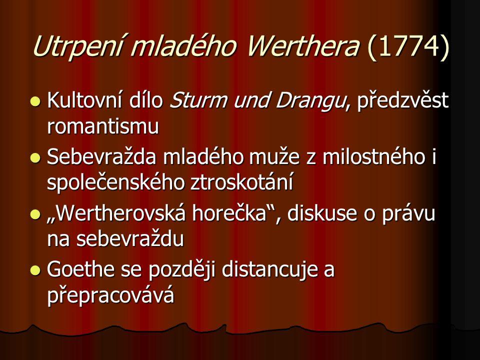 Utrpení mladého Werthera (1774)