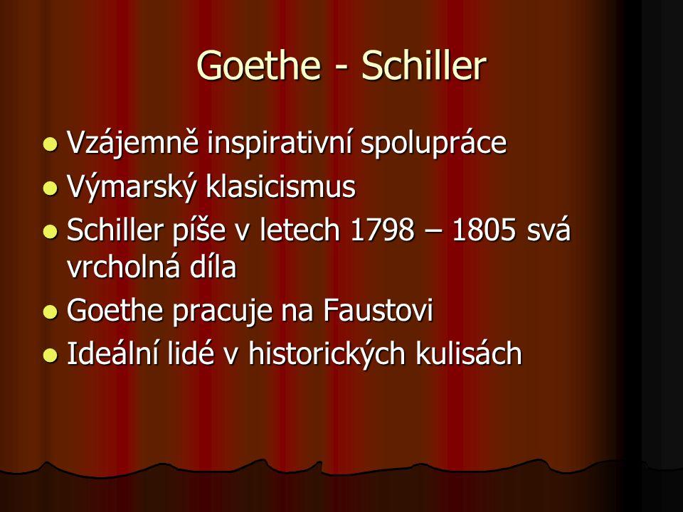 Goethe - Schiller Vzájemně inspirativní spolupráce