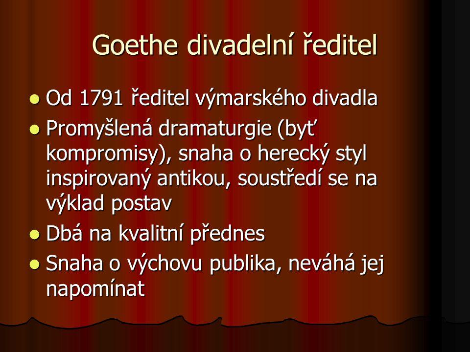 Goethe divadelní ředitel