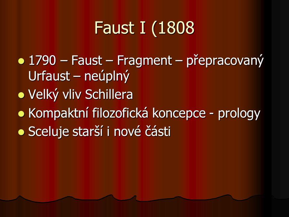 Faust I (1808 1790 – Faust – Fragment – přepracovaný Urfaust – neúplný