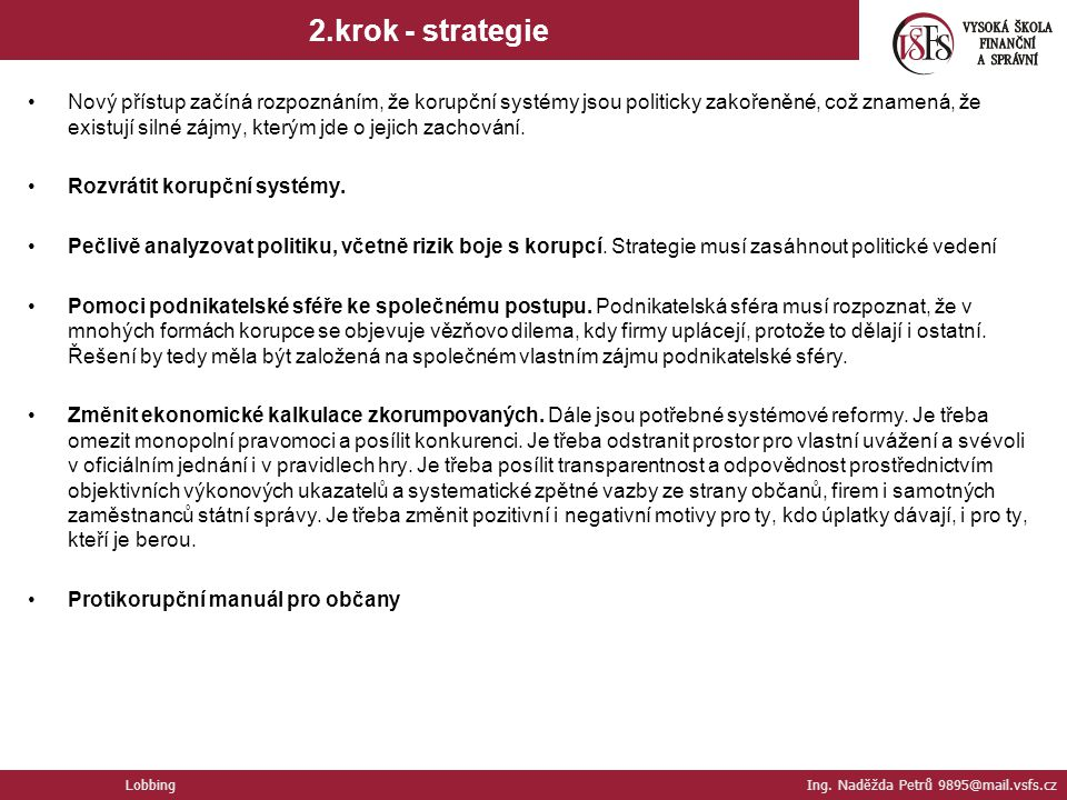 2.krok - strategie