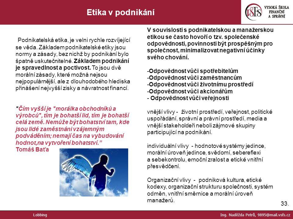 Etika v podnikání