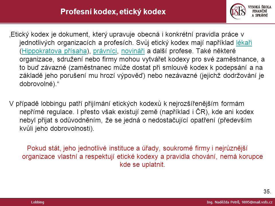 Profesní kodex, etický kodex