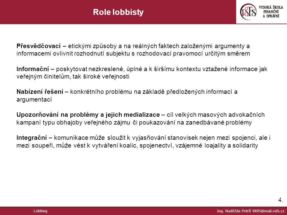 Role lobbisty
