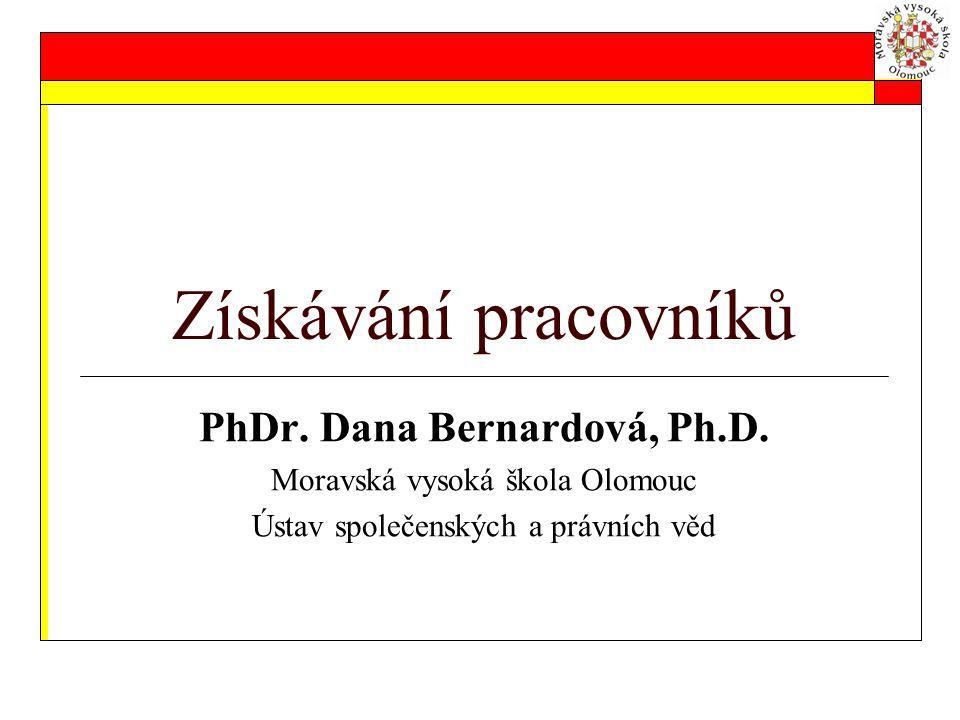 PhDr. Dana Bernardová, Ph.D.