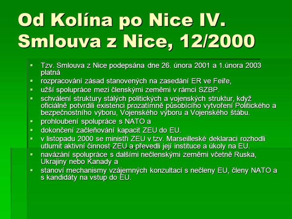 Od Kolína po Nice IV. Smlouva z Nice, 12/2000