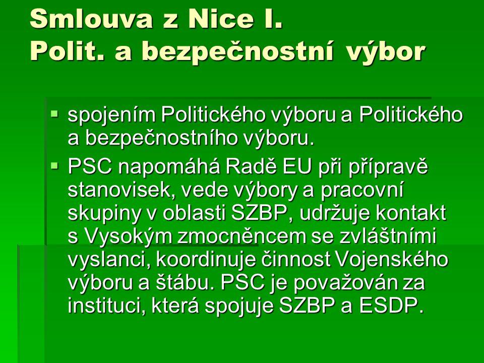 Smlouva z Nice I. Polit. a bezpečnostní výbor