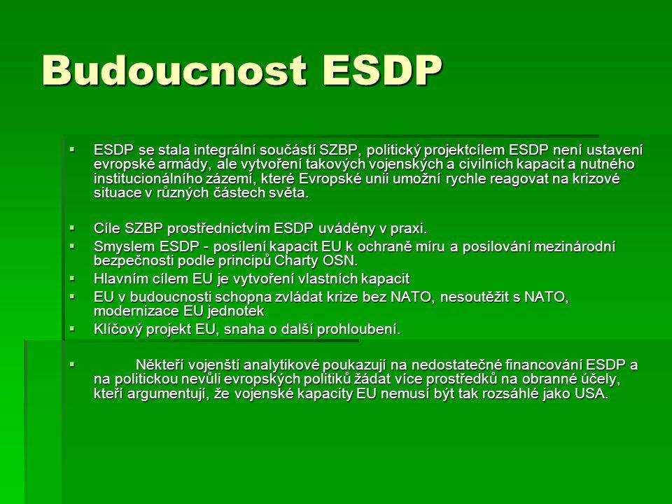 Budoucnost ESDP