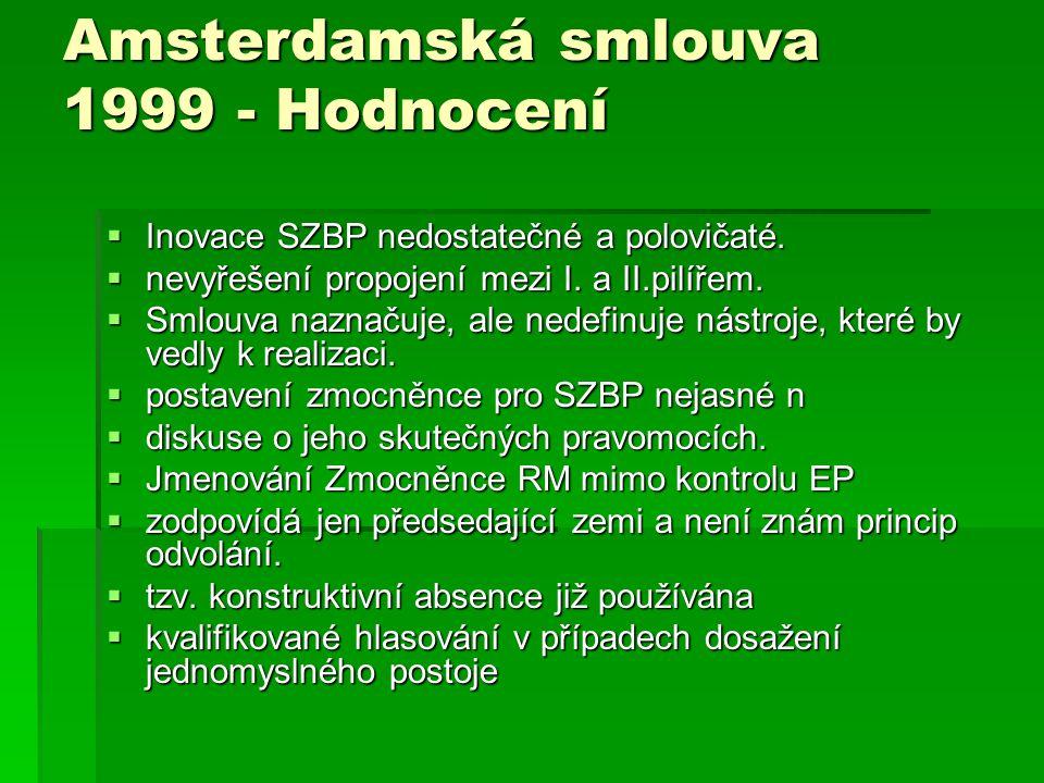 Amsterdamská smlouva 1999 - Hodnocení