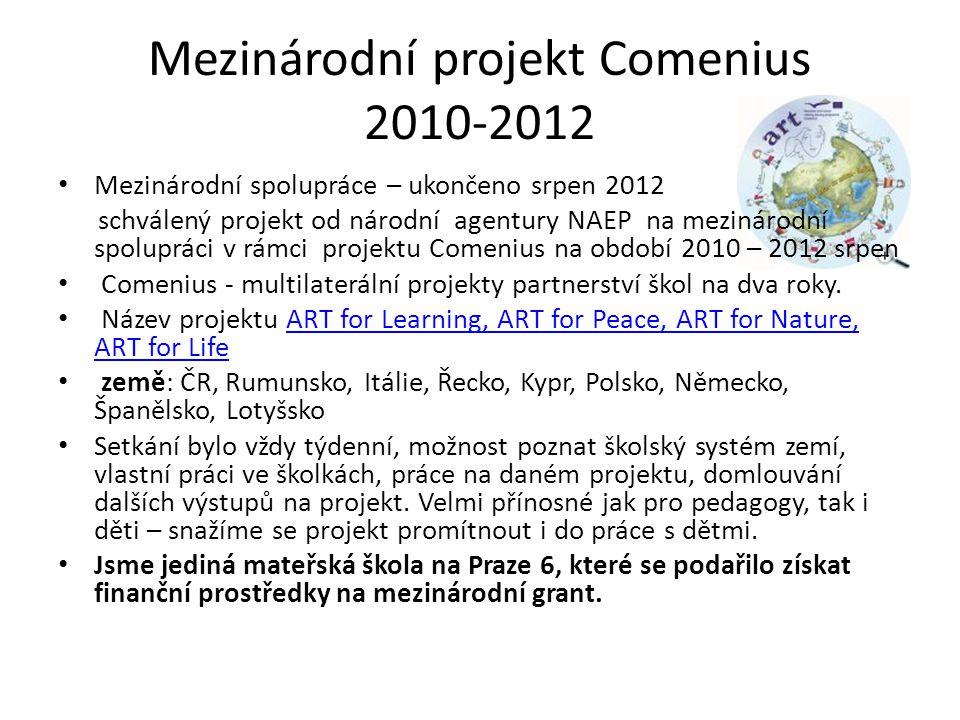 Mezinárodní projekt Comenius 2010-2012