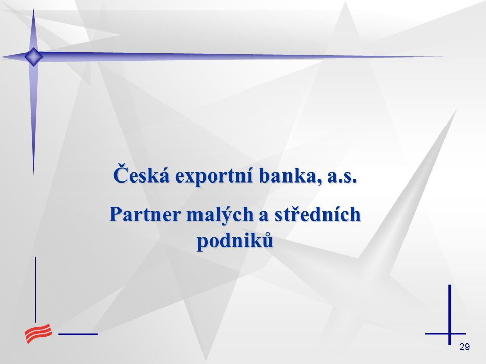 Česká exportní banka, a.s. Partner malých a středních podniků