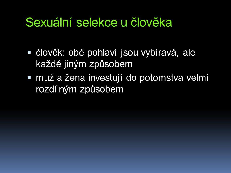 Sexuální selekce u člověka