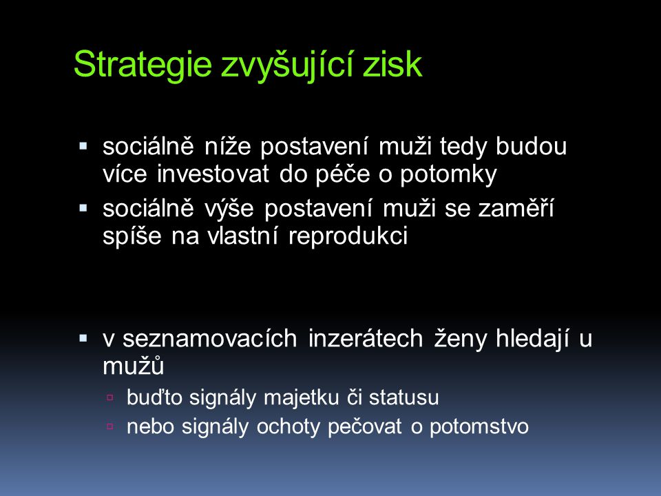 Strategie zvyšující zisk