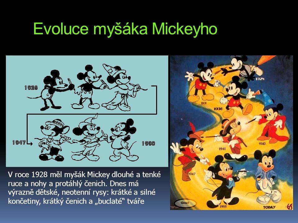 Evoluce myšáka Mickeyho