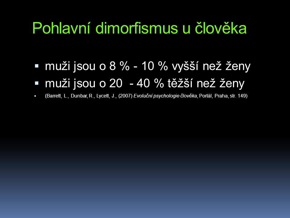 Pohlavní dimorfismus u člověka