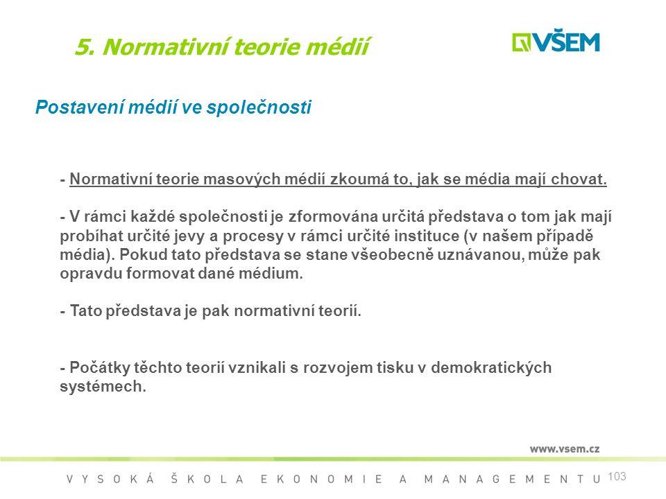 5. Normativní teorie médií