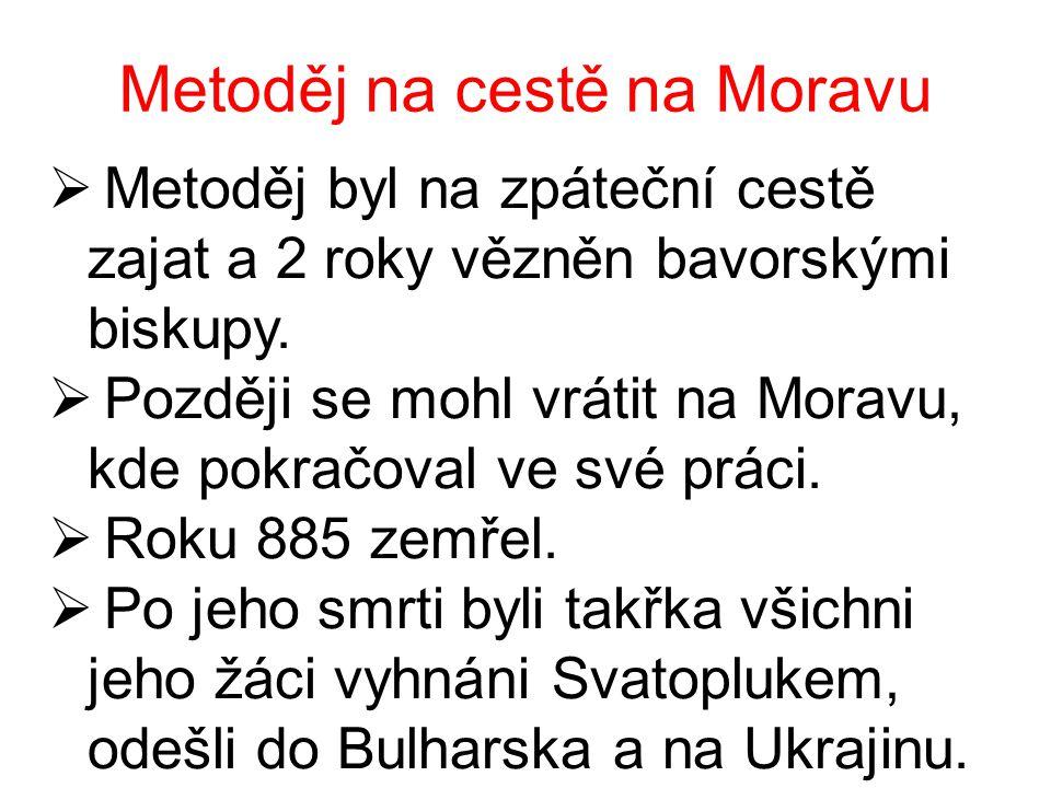 Metoděj na cestě na Moravu