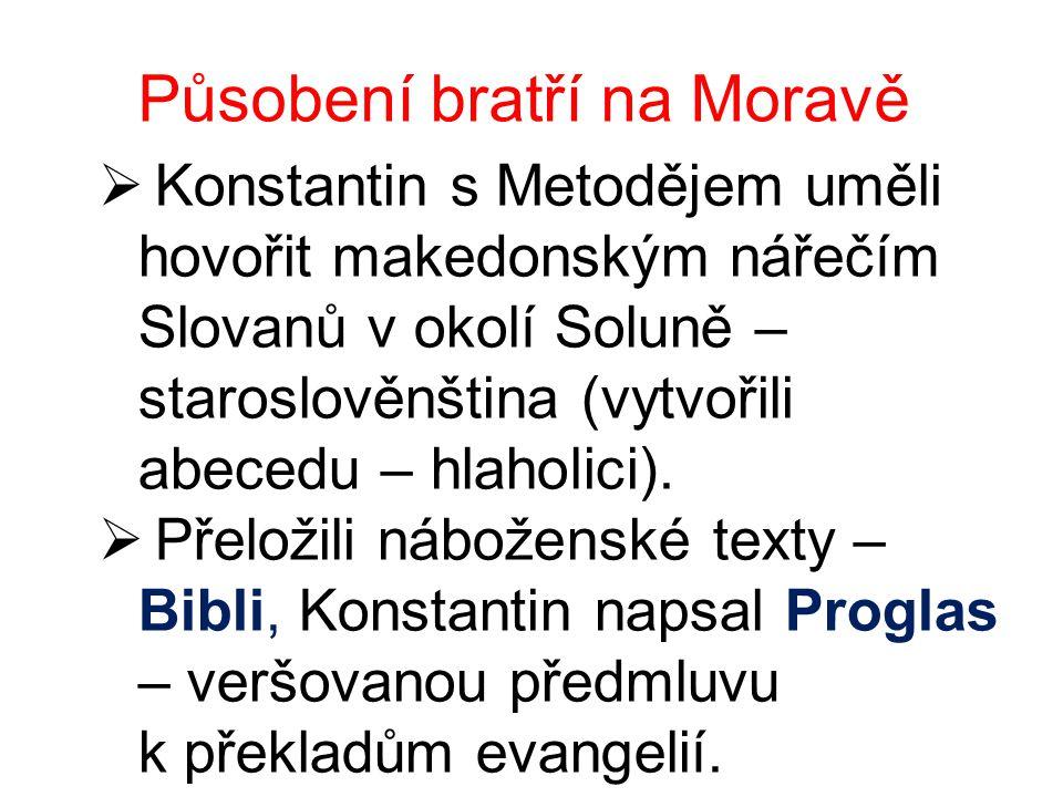 Působení bratří na Moravě