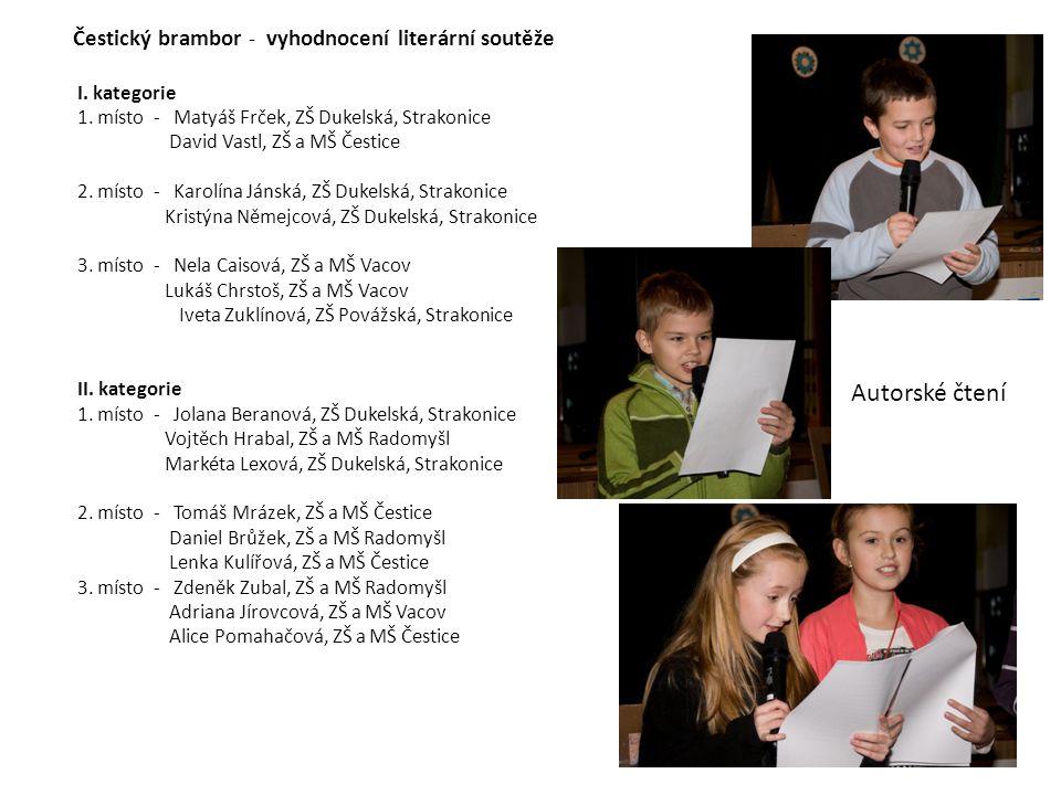 Autorské čtení Čestický brambor - vyhodnocení literární soutěže