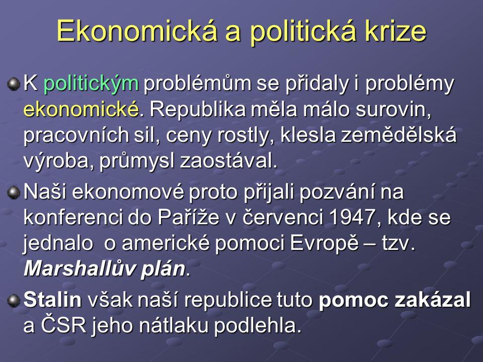 Ekonomická a politická krize