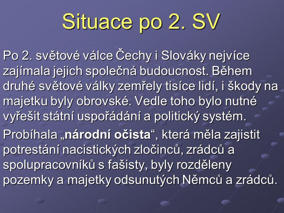 Situace po 2. SV