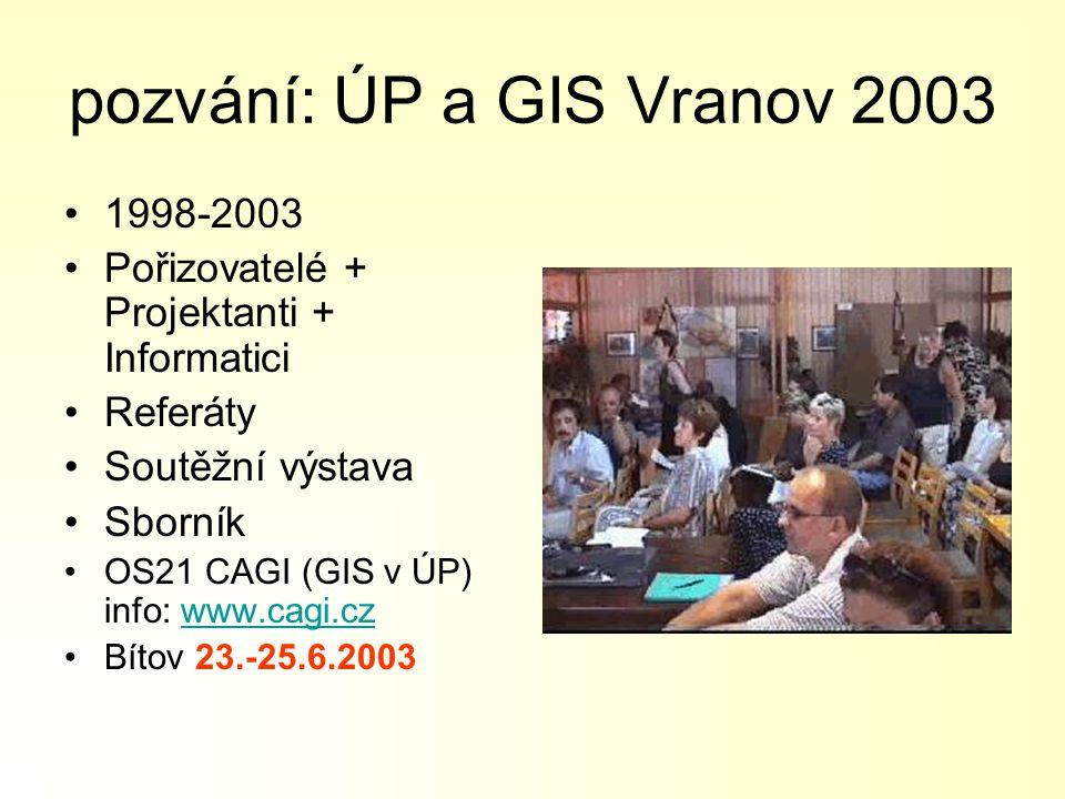 pozvání: ÚP a GIS Vranov 2003