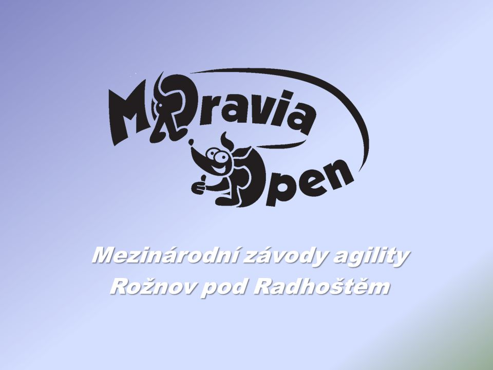 Mezinárodní závody agility Rožnov pod Radhoštěm