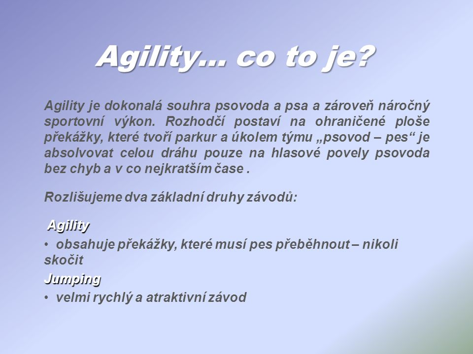 Agility… co to je