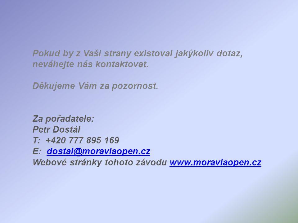 Pokud by z Vaši strany existoval jakýkoliv dotaz, neváhejte nás kontaktovat.