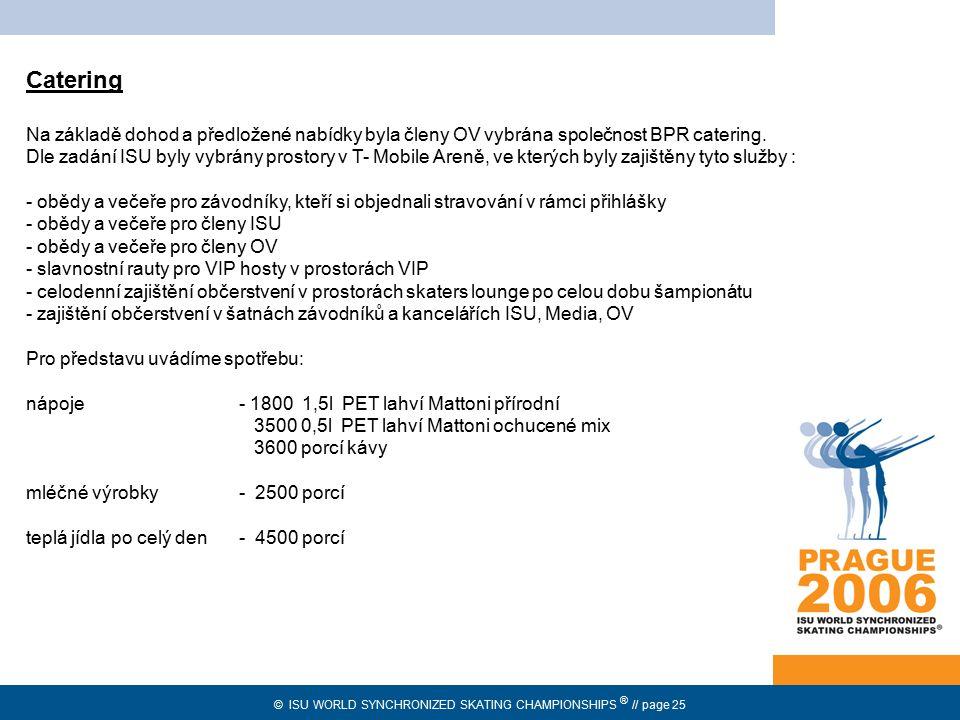 Catering Na základě dohod a předložené nabídky byla členy OV vybrána společnost BPR catering.