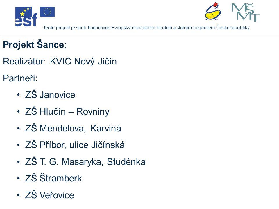 Realizátor: KVIC Nový Jičín Partneři: ZŠ Janovice ZŠ Hlučín – Rovniny