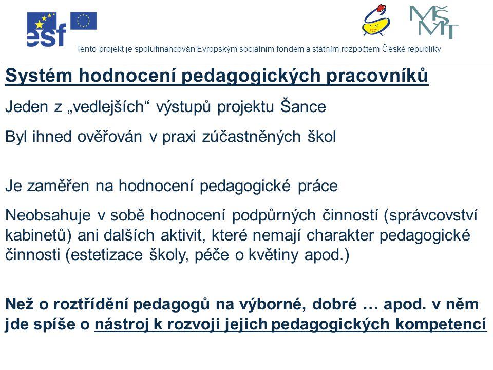 Systém hodnocení pedagogických pracovníků