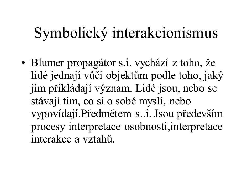 Symbolický interakcionismus