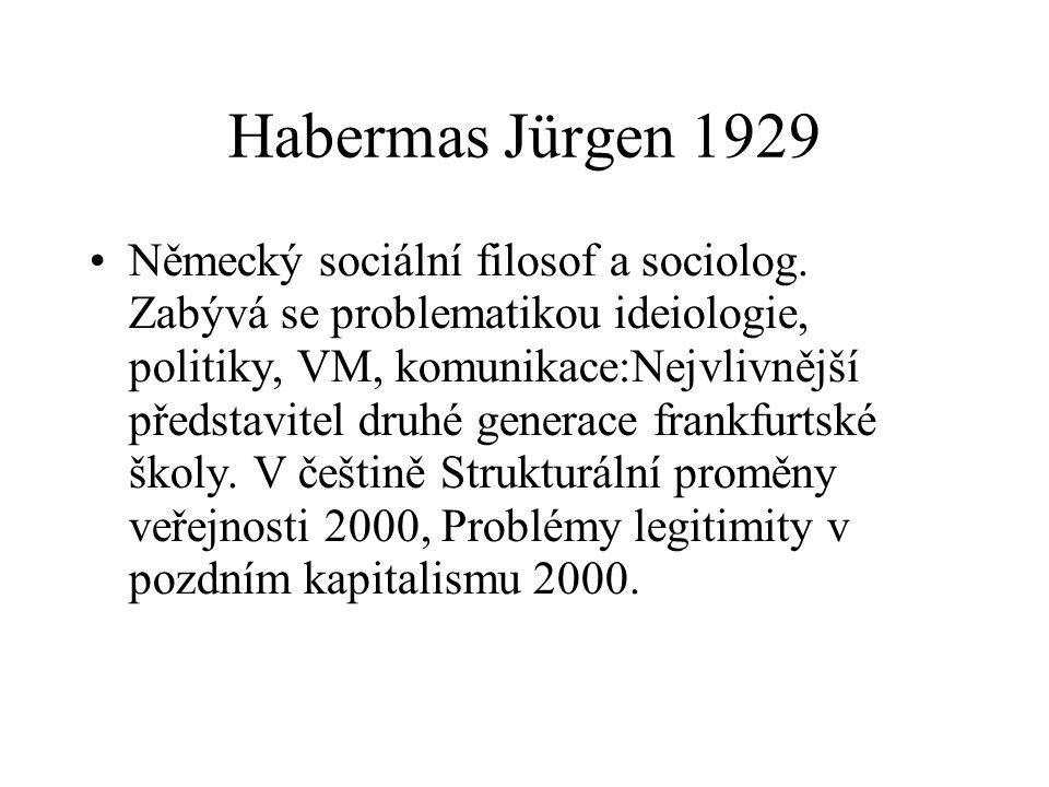 Habermas Jürgen 1929