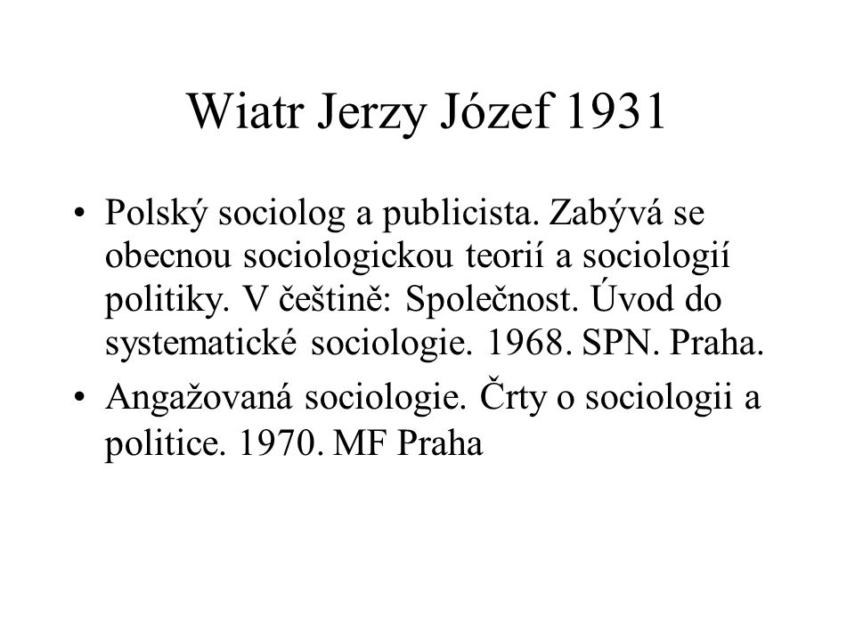 Wiatr Jerzy Józef 1931