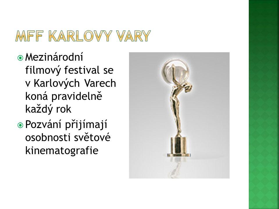 MFF Karlovy Vary Mezinárodní filmový festival se v Karlových Varech koná pravidelně každý rok.