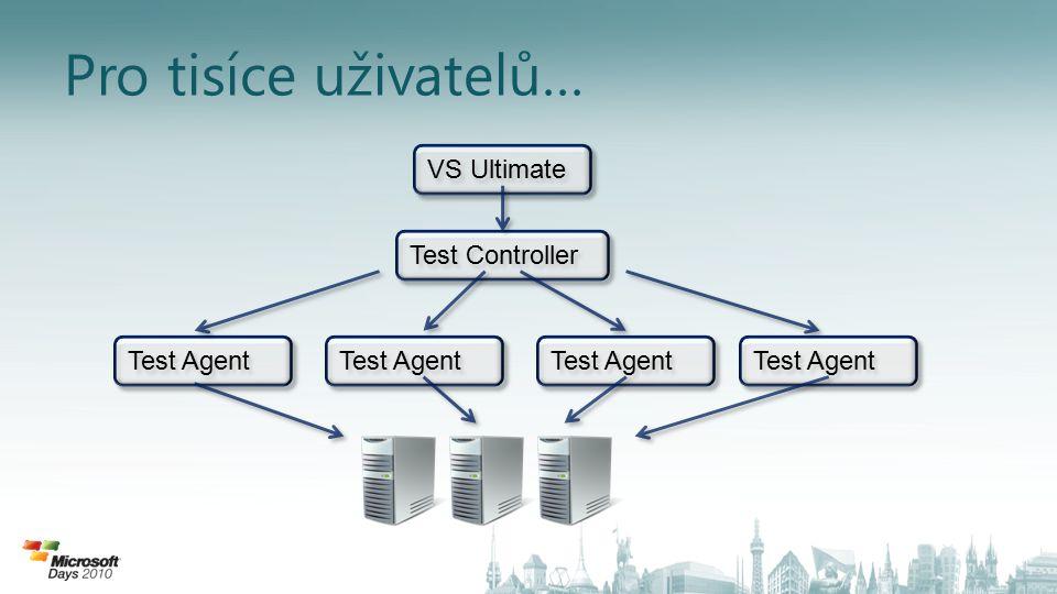 Pro tisíce uživatelů… VS Ultimate Test Controller Test Agent