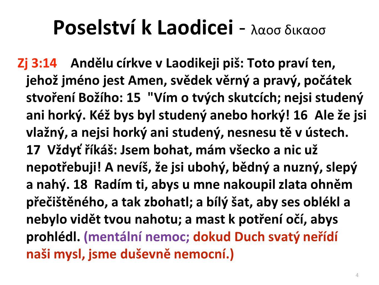 Poselství k Laodicei - λαοσ δικαοσ
