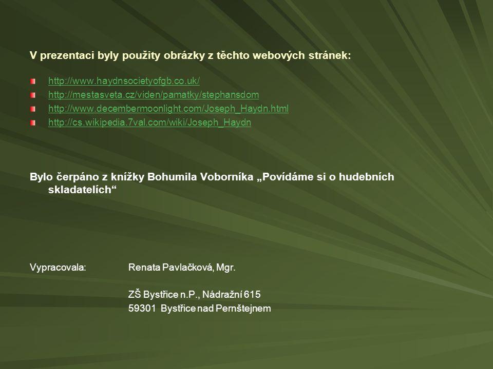 V prezentaci byly použity obrázky z těchto webových stránek: