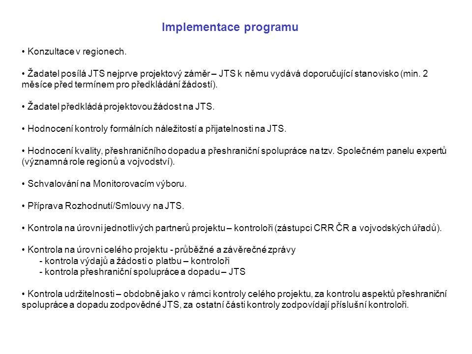 Implementace programu