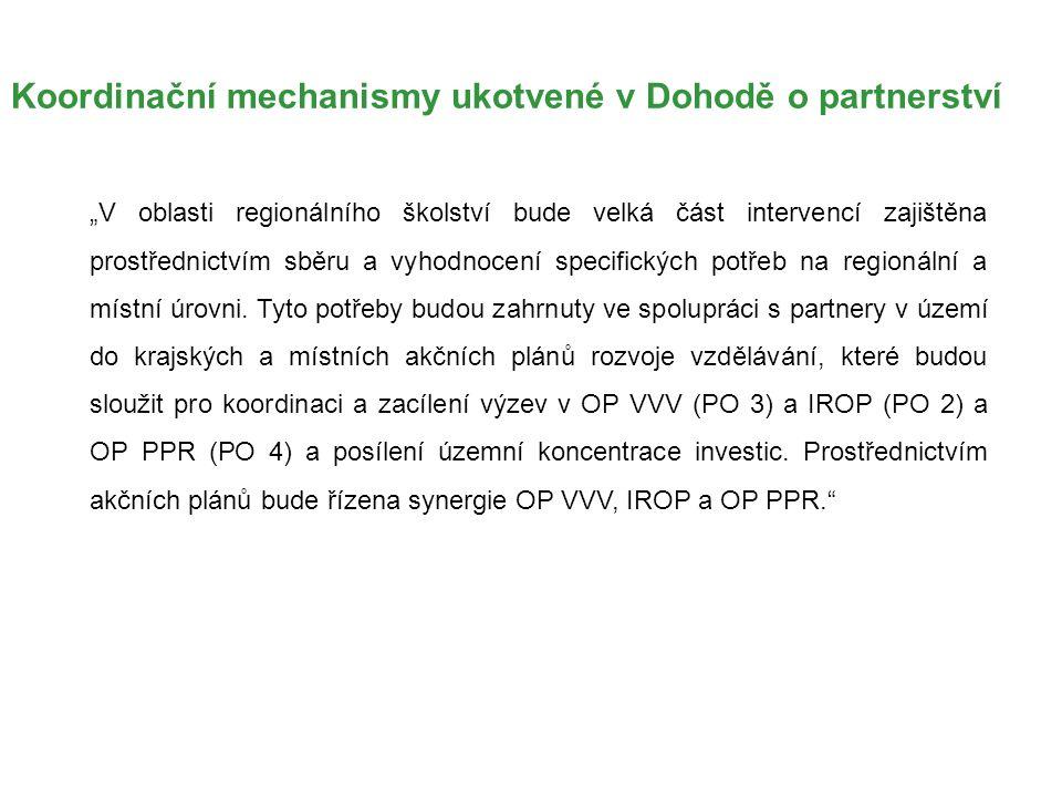Koordinační mechanismy ukotvené v Dohodě o partnerství