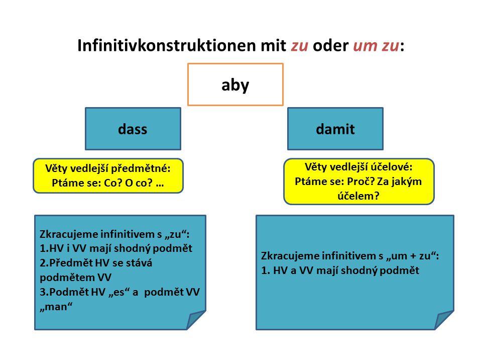 Infinitivkonstruktionen mit zu oder um zu: