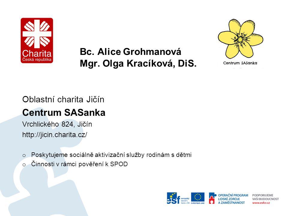 Bc. Alice Grohmanová Mgr. Olga Kracíková, DiS.
