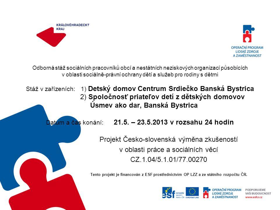Projekt Česko-slovenská výměna zkušeností