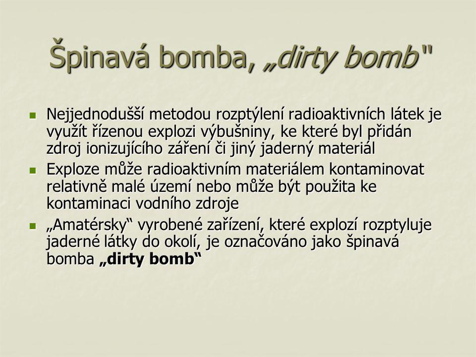 """Špinavá bomba, """"dirty bomb"""