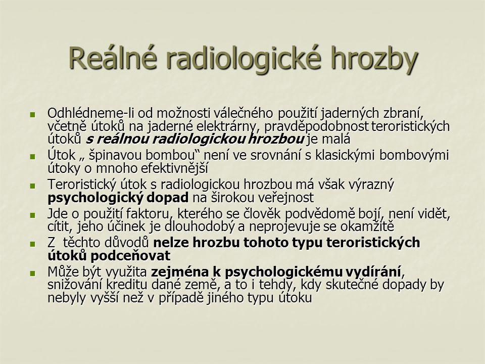 Reálné radiologické hrozby