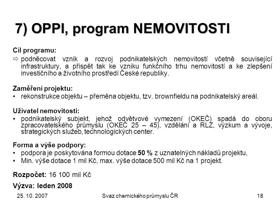 7) OPPI, program NEMOVITOSTI